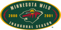 Minnesota Wild 2000 01 Anniversary Logo iron on transfer