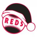 Cincinnati Reds Baseball Christmas hat decal sticker