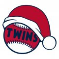 Minnesota Twins Baseball Christmas hat decal sticker