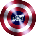 captain american shield with utah jazz logo iron on transfer