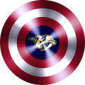 captain american shield with nashville predators logo iron on transfer
