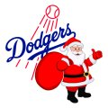 Los Angeles Dodgers Santa Claus Logo decal sticker