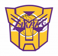 Autobots Los Angeles Lakers logo iron on transfers
