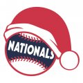 Washington Nationals Baseball Christmas hat decal sticker