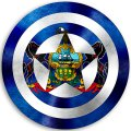 CAPTAIN AMERICA Pennsylvania State Flag decal sticker