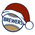 Milwaukee Brewers Baseball Christmas hat decal sticker