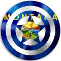 CAPTAIN AMERICA Montana State Flag decal sticker