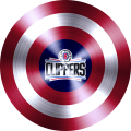 captain american shield with los angeles clippers logo iron on transfer