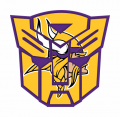 Autobots Minnesota Vikings logo iron on transfers