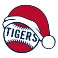 Detroit Tigers Baseball Christmas hat decal sticker