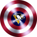 captain american shield with pittsburgh penguins logo iron on transfer