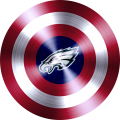 captain american shield with philadelphia eagles logo iron on transfer