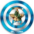 CAPTAIN AMERICA Oklahoma State Flag decal sticker