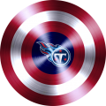 captain american shield with tennessee titans logo iron on transfer