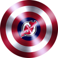 captain american shield with new jersey devils logo iron on transfer