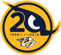 Nashville Predators 2017 18 Anniversary Logo iron on transfer