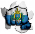 hulk SAN MARINO Flag decal sticker