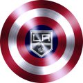captain american shield with los angeles kings logo iron on transfer