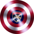 captain american shield with florida panthers logo iron on transfer