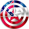 CAPTAIN AMERICA Mississippi State Flag decal sticker