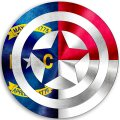 CAPTAIN AMERICA North Carolina State Flag decal sticker