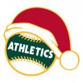 Oakland Athletics Baseball Christmas hat decal sticker