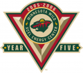 Minnesota Wild 2005 06 Anniversary Logo iron on transfer