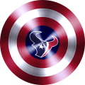 captain american shield with houston texans logo iron on transfer
