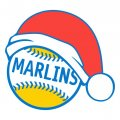 Miami Marlins Baseball Christmas hat decal sticker