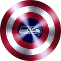 captain american shield with seattle seahawks logo iron on transfer