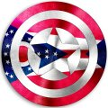 CAPTAIN AMERICA Ohio State Flag decal sticker