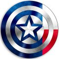 CAPTAIN AMERICA Texas State Flag decal sticker