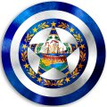 CAPTAIN AMERICA New Hampshire State Flag decal sticker