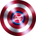 captain american shield with detroit pistons logo iron on transfer