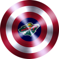 captain american shield with minnesota wild logo iron on transfer