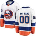 New York Islanders Custom Letter and Number Kits for White Away Jersey