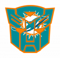 Autobots Miami Dolphins logo iron on transfers