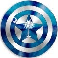 CAPTAIN AMERICA South Carolina State Flag decal sticker