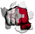 hulk MALTA Flag decal sticker