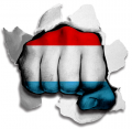 hulk Luxembourg Flag decal sticker