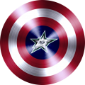 captain american shield with dallas stars logo iron on transfer