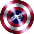 captain american shield with vancouver canucks logo iron on transfer