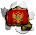 hulk MONTENEGRO Flag decal sticker