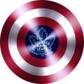 captain american shield with toronto maple leafs logo iron on transfer