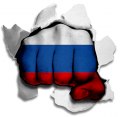 hulk RUSSIA Flag decal sticker