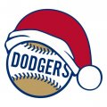 Los Angeles Dodgers Baseball Christmas hat decal sticker