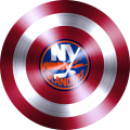 captain american shield with new york islanders logo iron on transfer