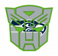 Autobots Seattle Seahawks logo iron on transfers