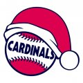 St. Louis Cardinals Baseball Christmas hat decal sticker