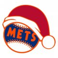 New York Mets Baseball Christmas hat decal sticker